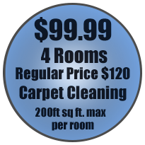 Offer Button: $99.99 4 Room Regular Price $120 carpet cleaning. 200 sq. ft. max per room.